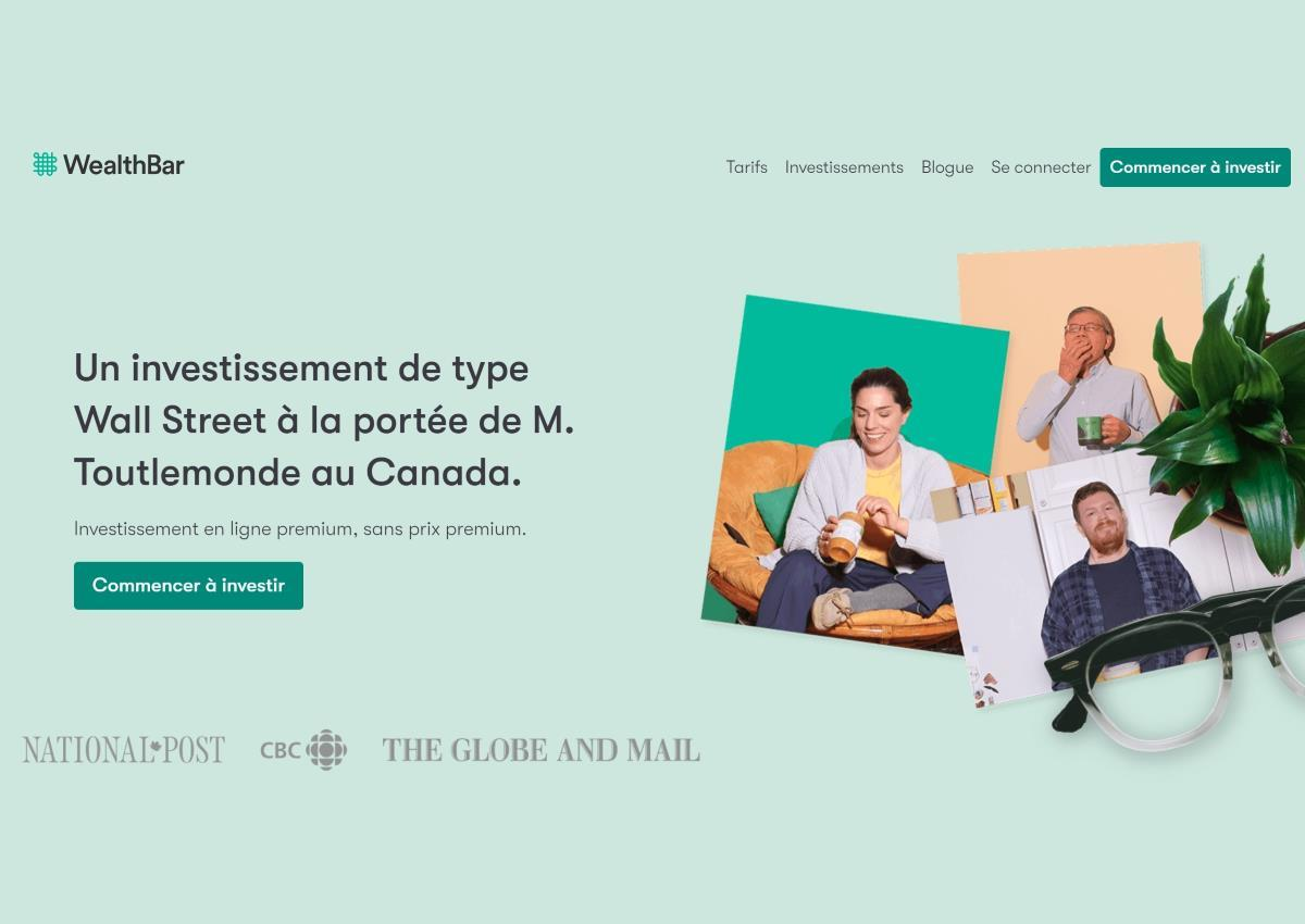 Wealthbar French Homepage