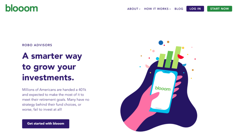 Blooom home page 1 800x451 - Blooom Review (2020) - Low-Cost Robo Advisor for your 401(k) & IRAs
