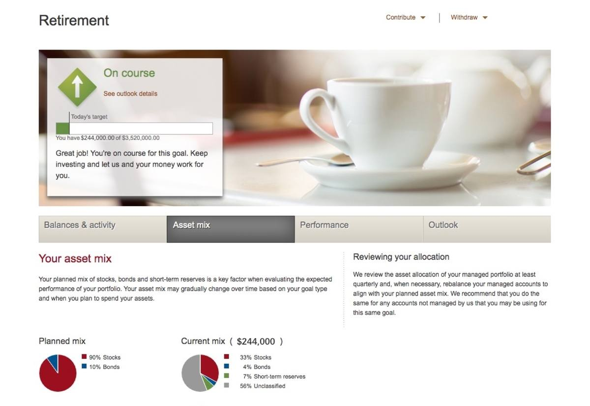 Vanguard PAS Account Dashboard 2 - Vanguard Personal Advisor Services Review (2020)